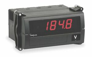 Simpson Electric Digital Panel Meter Dc Voltage Includes Instructions
