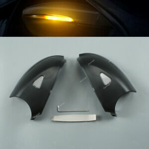 Pair Dynamic Smoked Led Turn Lights Lamp Signal Side For Vw Passat B7 Scirocco