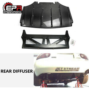 For Mazda Mx5 Na Miata Roadster Js style Carbon Fiber Rear Bumper Diffuser Lip