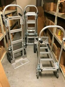 Uline Convertible Jr Aluminum Hand Truck With Solid Wheels H 1479