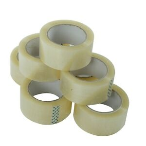 36 Rolls Carton Sealing Clear Packing Tape Box Shipping 1 8 Mil 2 X 110 Yards