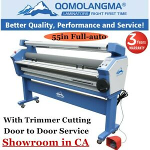Usa 110v 55in Full auto Wide Format Cold Laminator Machine With Heat Assisted