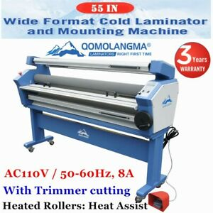 Usa 55in Full auto Wide Format Cold Laminator Laminating Machine Heat Assisted