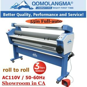 Usa 55 Full auto Wide Format Cold Laminator Laminating Machine Heat Assisted