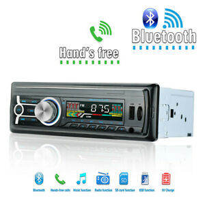 1din Car Blueteeth Stereo Aux Usb Tf Fm Mp3 Radio Player For Old Classic Auto