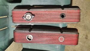 Cal Custom Vintage Aluminum Finned Valve Covers For Chevy Small Block