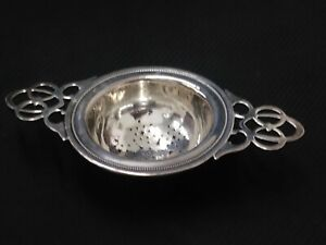 Antique Watson Sterling Double Handle Tea Strainer W50