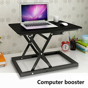 Height Adjustable Sit Stand Up Laptop Desk Conversion Standing Rise