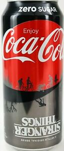 COLLECTOR COCA COLA COKE ZERO 1985 STRANGER THINGS 16OZ LIMITED ED CAN SEALED