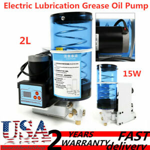 24v Full automatic Electric Grease Pump 2l Oil Lubricant Pump 60cc Min