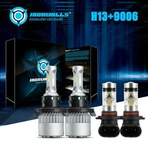 H13 9006 Led Headlight Kit 6000k Fog Bulb For Dodge Ram 1500 2500 3500 2006 2008