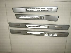 Stainless Auto Door Sill Plate Cover Scuff Guard Trim Protector For Chevy Spark