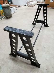 A Frame Cast Iron Table Legs Industrial Steampunk Vintage Dining Table Base