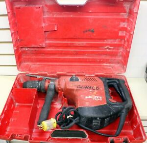 Hilti Te 70 Corded Rotary Hammer Drill With Case And 2 Big Drill Bits