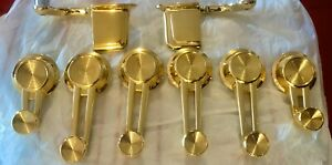 1961 1962 1963 1964 1965 1966 Impala 24k Gold Plated Window Cranks door Handles