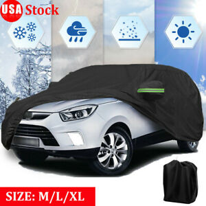 17ft Suv Full Car Cover 420d Oxford Waterproof Outdoor Scratch Snow Uv Resistant