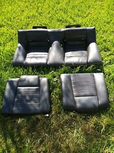 Oem Ford Mustang Gt Leather Rear Seat Black 2005 2006 2007 2008 2009