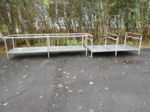 2 large Used Heavy Duty Stainless Steel Prep Tables Without Tops
