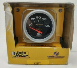 Autometer 5427 Pro comp 2 5 8 Oil Pressure Gauge 0 100 Psi Electrical