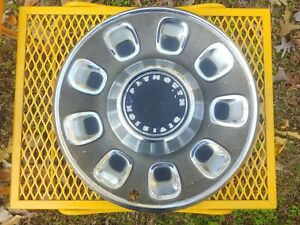 Vintage Plymouth Hubcap Late 60s 14