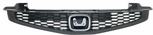 Grille For 2012 2013 Honda Civic Coupe Black Plastic