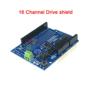 16ch 16 Channel 12 bit Pwm Servo Drive Shield Board i2c Pca9685 For Arduino