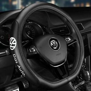 15 Car Steering Wheel Cover Genuine Leather For Volkswagen