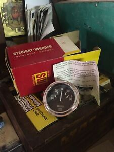 Nos Vintage Stewart Warner Oil Temp Gauge Temperature Gasser Hot Rod 12 Volt