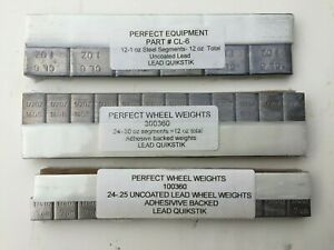 Perfect 25 50 1 Oz Self Adhesive Stick On Uncoated Lead Wheel Weights 60 Pcs