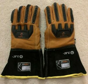 Endura Double Weight Winter Lined Impact Resistant Goatskin Gloves With Oilbloc