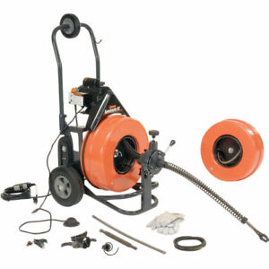 New General Wire Speedrooter 92 Sewer Cleaning Machine W 2 Cables