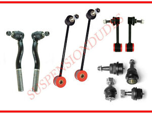 10pc Sway Bar Link Ball Joint Tie Rod End Kit Fits 2007 2018 Jeep Wrangler