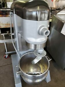 Hobart H 600 60 Qt 1 Hp Mixer Pizza Dough Hook Stainless Steel Bowl 220v 3ph