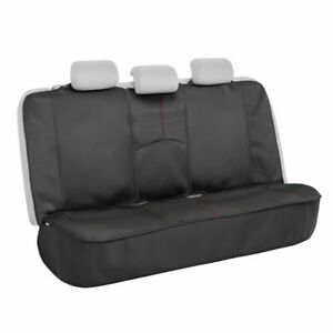 Motor Trend Waterproof Universal Rear Bench Seat Cover For Car Red Stitching