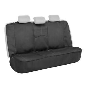 Motor Trend Waterproof Universal Rear Bench Seat Cover For Car Gray Stitching