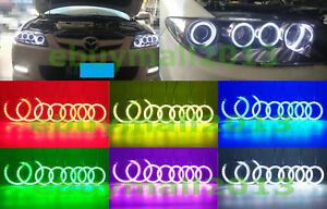 8 Clear Rgb Halo Ring Angel Eyes For Mazdaspeed6 Atenza Mazda6 Mps 2002 08 Drl