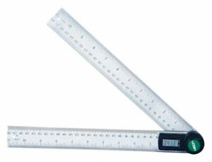 Insize Digital Protractor Yes 0 To 360 12 Length 12 X 12 X 1 3 8
