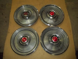 1968 68 Chrysler Newport Hubcap Rim Wheel Cover Hub Cap 14 Oem Used 324 Set 4