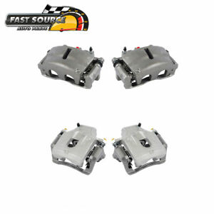 For Buick Rainier Chevy Gmc Trailblazer Envoy Front And Rear Calipers Pair
