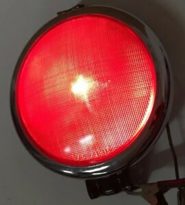 Vintage Rare 8 Dietz 475 Red Tail Light Stop 6 V Glass Early Truck Trailer Bus