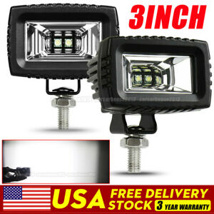2x 3 48w Square Led Work Light Cube Pods Driving Fog Spot For Suv Atv Truck Car