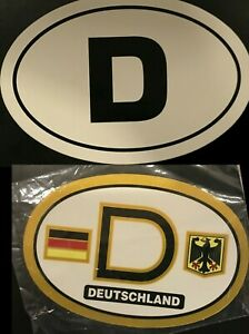 D Germany Country Oval Sticker Decal Self Adhesive German Car Vinyl