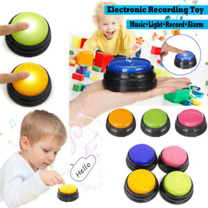 Portable Led Recordable Talking Button Learning Resources Answer Buzzers E7v3