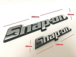 Two Snap On Tools 3d Chrome Badges Tool Box Logo Decal Snap On Sticker 2 Sizes