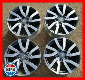 Honda 2020 Pilot Ridgeline Oem Factory Wheel Set 18 Rims 63148 Grey cnc Tpms s