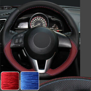 Cowhide Stitch On Wrap Steering Wheel Cover For Mazda M 3 6 Cx 3 Cx 5 Cx5 13 16