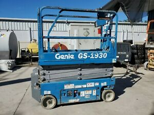 2013 Genie Gs 1930 Scissor Lift 26 Working Height 245hrs