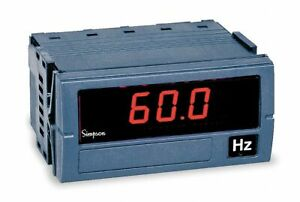Simpson Electric Digital Panel Meter Frequency Includes Instructions