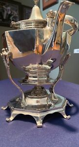Theodore B Starr Sterling Silver Hot Water Kettle On Stand Not Monogrammed