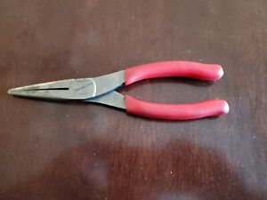 Snap On 8 Talon Grip Needle Nose Pliers Red Handle 96cf